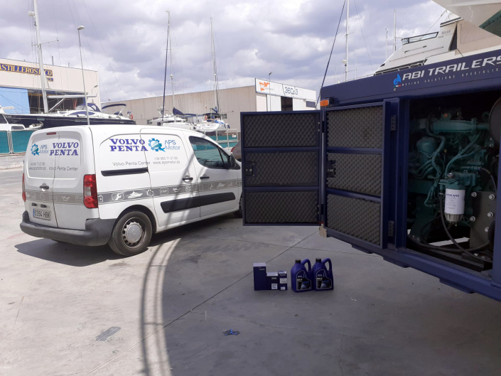 Nuestro vehículo ha llegado para trabajar con el motor industrial.