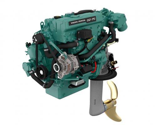 Motor para Velero Volvo Penta D2-75 con cola Saildrive